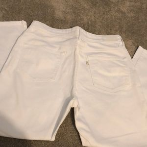 Levi cropped white jeans Size 10